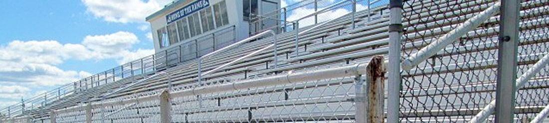 Bleacher safety rails