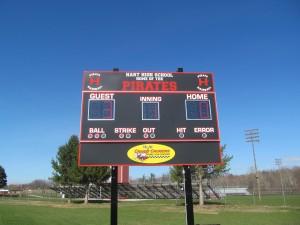 Scoreboard in Hart, Michigan